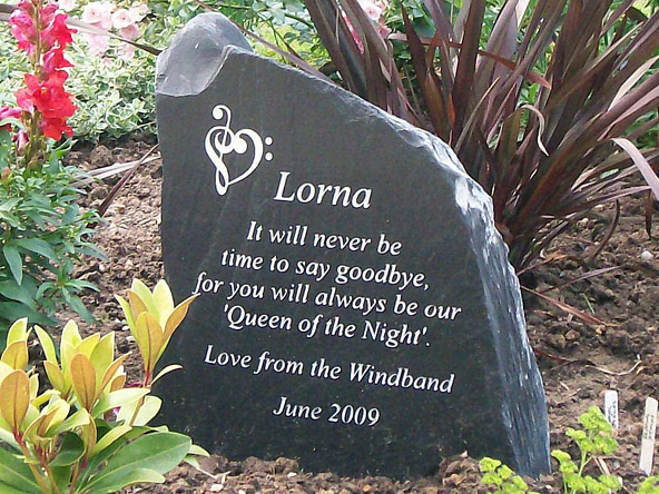 Garden Memorial Stones for Peoples Ashes and Graves UK