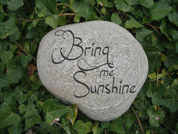 A Large Engraved Pebble Stone