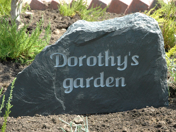 Slate Headstone Memorials great for gardens and churches UK