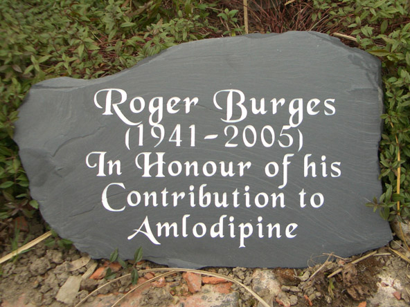 Natural slate memorial with rough edge.