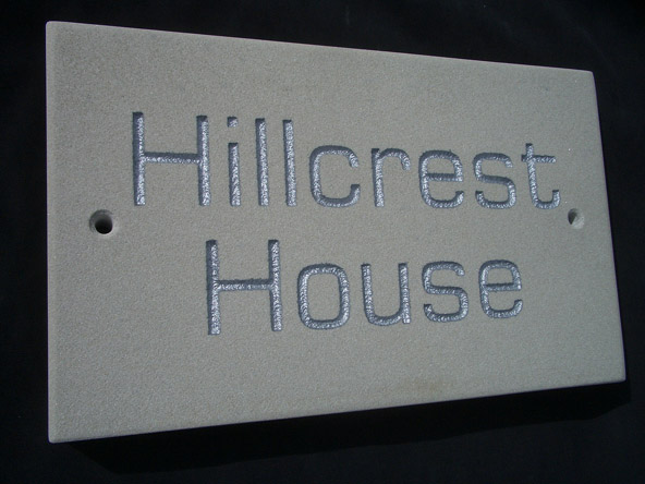House plaques name plates made from stones for homes for Contemporary house names